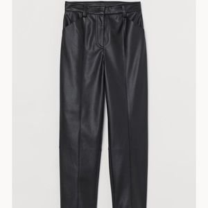 H&M Faux Leather Pants Size 8